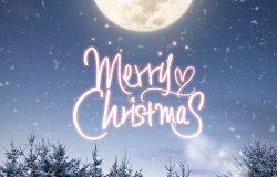 冬季圣诞节日快乐主题海报设计模板