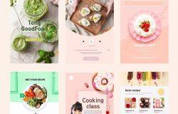 美食甜品蛋糕商店APP应用UI设计PSD模板