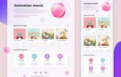 儿童动画视频APP应用界面UI设计