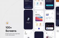 博客/文章/社交交流App应用程序UI套件