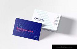 UK标准规格企业名片设计预览图样机模板06 UK Business Cards Mockup