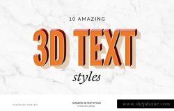 创意3D文本图层样式 Amazing 3D Text Styles