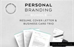 超实用个人简历设计模板合集 Resume Bundle-Personal branding