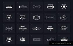40个多用途时尚复古Logo模板
