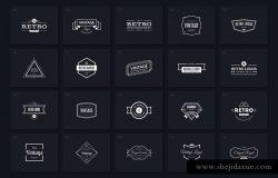 40个复古风格Logo标志设计模板合集v4 40 Vintage Logos Vol. 4