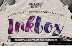 墨水手绘风格图层样式 Photoshop Ink Drawing Effect