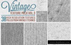 复古印刷墨迹背景纹理合集V.3 Vintage Texture Pack Vol. 3