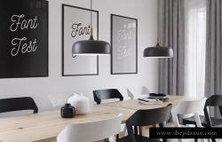 艺术墙&橱窗海报框架样机 Art Wall & Frame Mockups