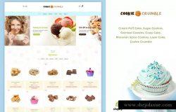 甜品雪糕甜点类在线商城Shopify主题模板 Cookie Food | Bakery, Cookie, Food Product Shopify
