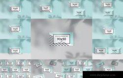 简约设计90x50mm企业公司名片设计样机模板 90x50mm Horizontal Business Cards Mockups vol.1