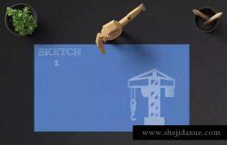 素描图形设计风格PPT幻灯片设计模板v1 SKETCH 1 Powerpoint Template