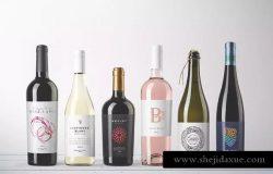 高端品牌酒瓶包装设计样机模板Vol.1 Wine Bottles Mockups Vol. 1