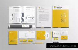 企业品牌VI办公用品样机设计模板