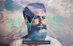 多种曝光效果照片处理PS图层样式 Hype | Multiple Exposure FX