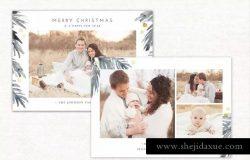 圣诞节主题照片贺卡设计模板 Christmas Card Template Holidays 149