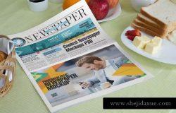 早餐场景新闻报纸广告展示样机模板v2 Newspaper Mockup Templates
