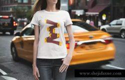 时尚T恤都市版服装样机