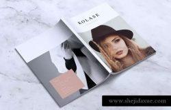 极简主义时尚服饰品牌产品手册INDD模板 KOLASE Minimal Fashion Lookbook