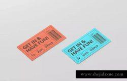 活动门票/电影票/优惠券样机模板