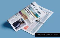 专业新闻报纸PSD印刷品样机 Professional Newspaper PSD Mockups