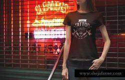 潮流时尚T恤都市版服装样机Vol.5 T-Shirt Mockup Urban Edition Vol. 5