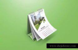 活页台历日历样机模板 Desk Calendar Mockups