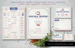 复古设计风格西餐厅菜单设计PSD模板 I