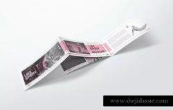 双折页DL宣传册样机模板