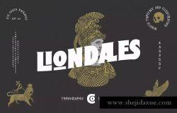 现代版式设计英文衬线字体 Liondales & Extra