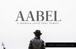 现代设计风格英文衬线字体家族