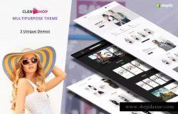 简约清新电商外贸网站Shopify主题模板 Clean Shop – Multipurpose Shopify Theme