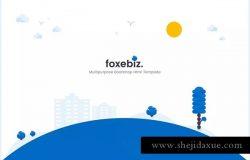 多用途企业官网设计HTML模板 Foxebiz – Multipurpose Html Template