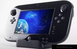 Wii U豪华掌上游戏机游戏设计预览样机02 Wii U Deluxe Gamepad Mockup