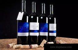 葡萄酒酒瓶外观设计样机模板