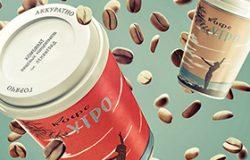 2款咖啡杯场景样机展示PSD模版 Coffee Maniac Mockup Set